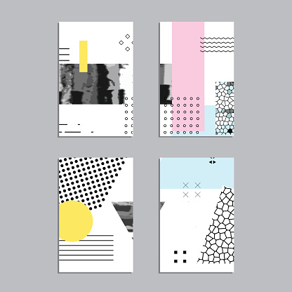 Set of artistic vector greeting cards design